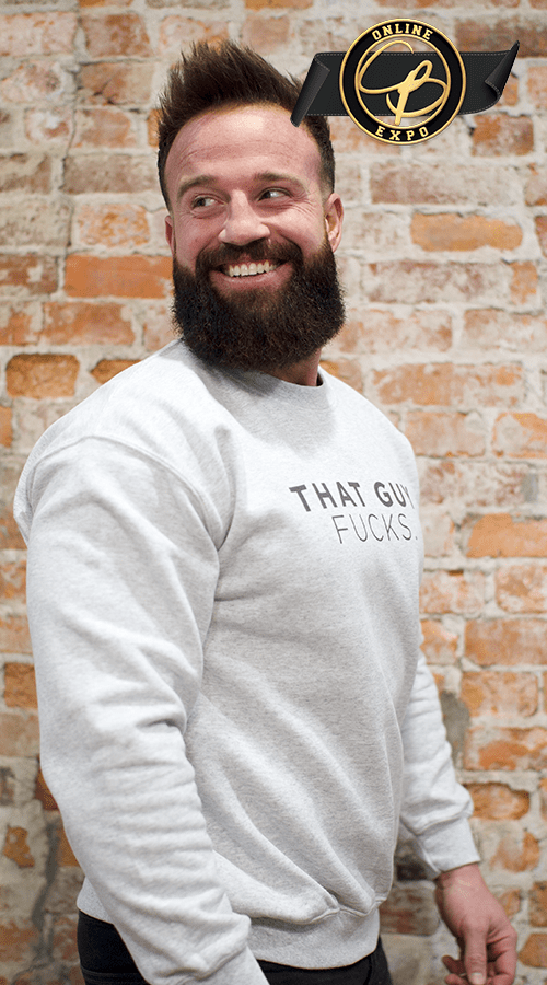 'That guy FUCKS' Unisex Sweatshirt in Ash Gray - Celestial Bodiez Collective