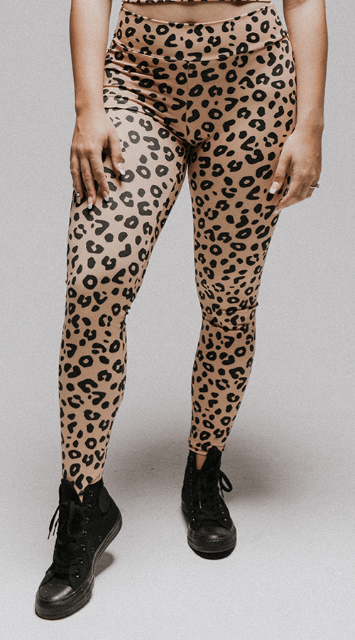 "High Rise #Bootyscrunch Leggings in ""Welcome to the Jungle"" - Celestial Bodiez Collective"