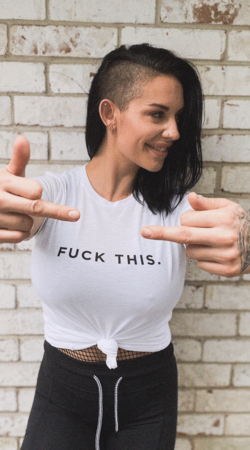 'Fuck This' Unisex Tee in White - Celestial Bodiez Collective