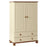 Copenhagen 2 Door 2 Drawer Combi Robe Cream and Pine