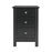 Florence 3 Drawer Bedside Cabinet Black