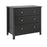 Florence 3 Drawer Chest Black