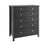 Florence 2 over 4 Drawer Chest Black