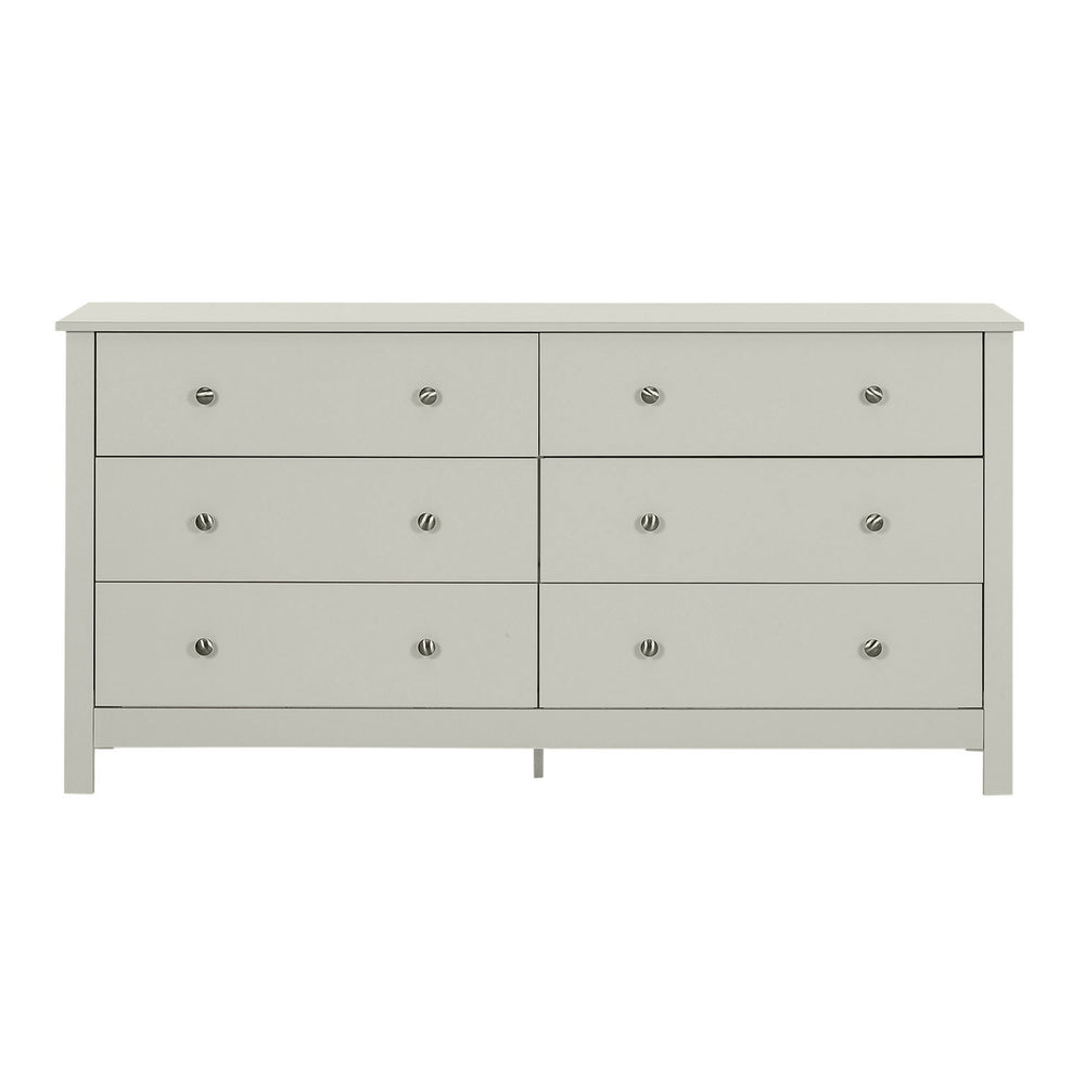 Florence 3+3 Drawer Chest Soft Grey