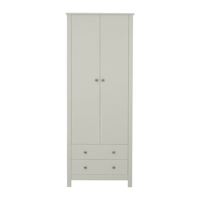 Florence 2 Door 2 Drawer Wardrobe Soft Grey