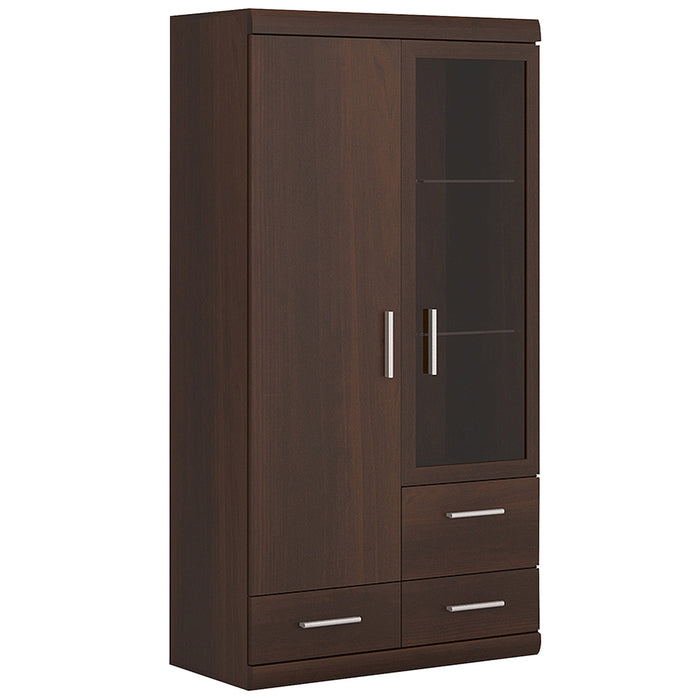 Imperial 2 Door 3 Drawer Glazed Display Cabinet