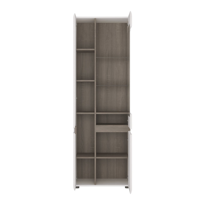 Chelsea Tall Glazed Narrow Display unit (LHD) White