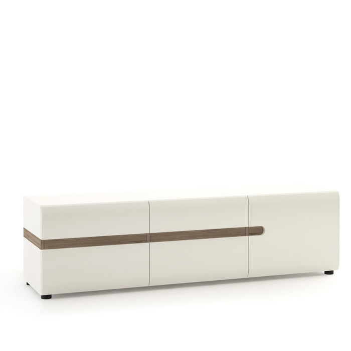 Chelsea Wide 3 door TV Unit White