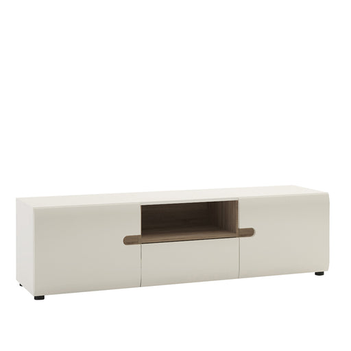 Chelsea Wide TV unit with opening White