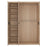 Kensington 3 Door Wardrobe with Centre Mirror door Oak