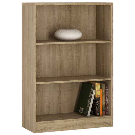 4 You Medium Wide Bookcase Oak
