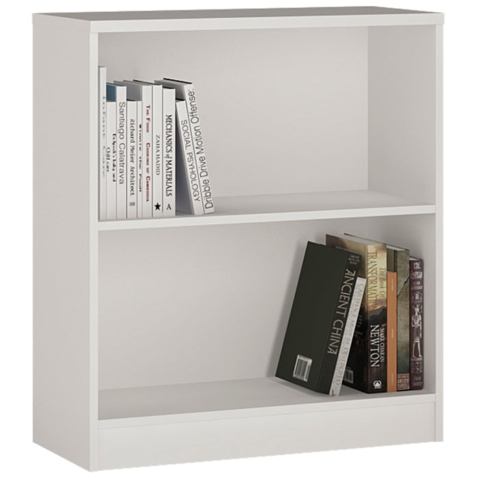 4 You Low Wide Bookcase White