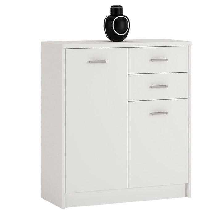 4 You 2 Door 2 drawer Cupboard White
