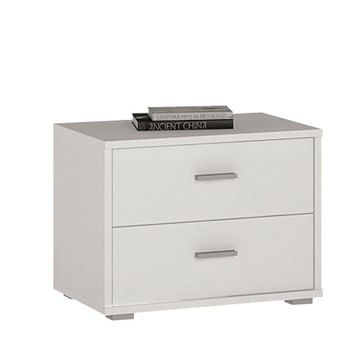 4 You 2 Drawer Low Chest/Bedside White