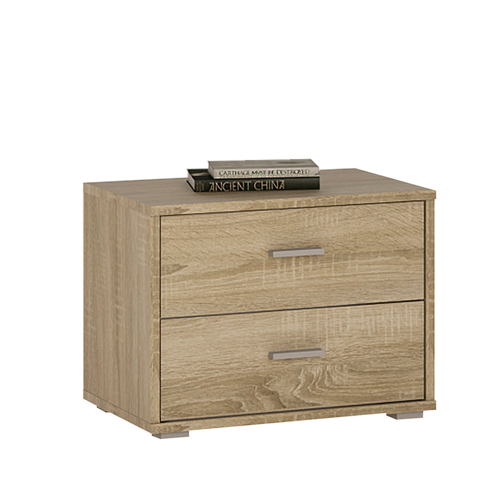 4 You 2 Drawer Low Chest/Bedside Oak