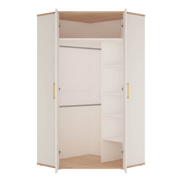 4Kids Corner Wardrobe with Orange Handles