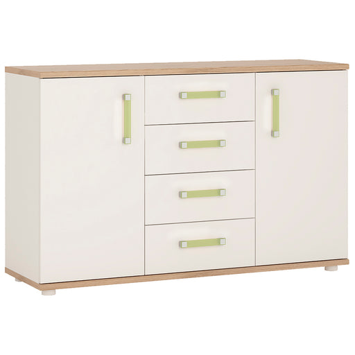 4Kids 2 Door 4 Drawer Sideboard with Lilac Handles