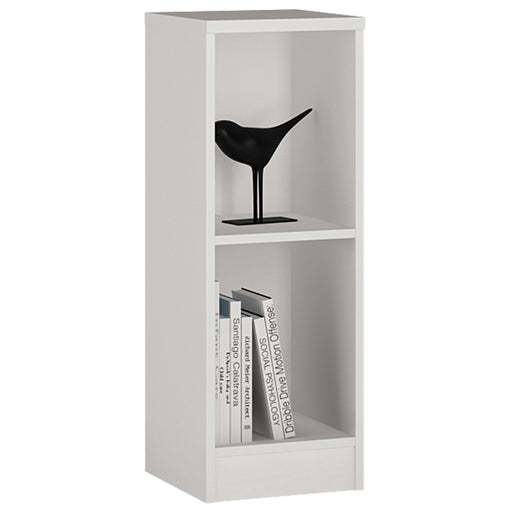 4 You Low Narrow Bookcase White