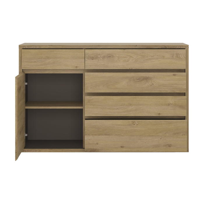 Shetland 1 Door 5 drawer cupboard Oak