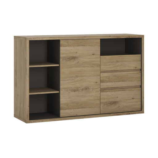 Shetland 1 Door 3 drawer sideboard Oak