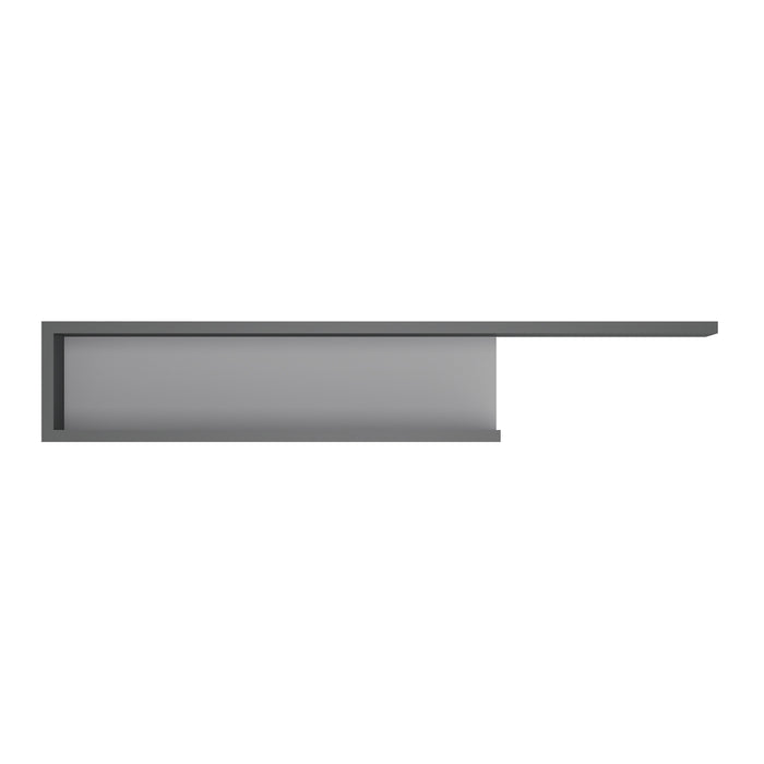 Lyon 140cm wall shelf Platinum/Light Grey