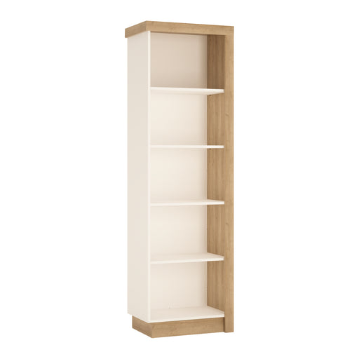 Lyon Bookcase (LH) Oak/White
