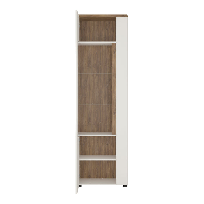 Toledo 1 door display cabinet (LH) White