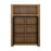 Havana 2 door cupboard with open shelf Oak