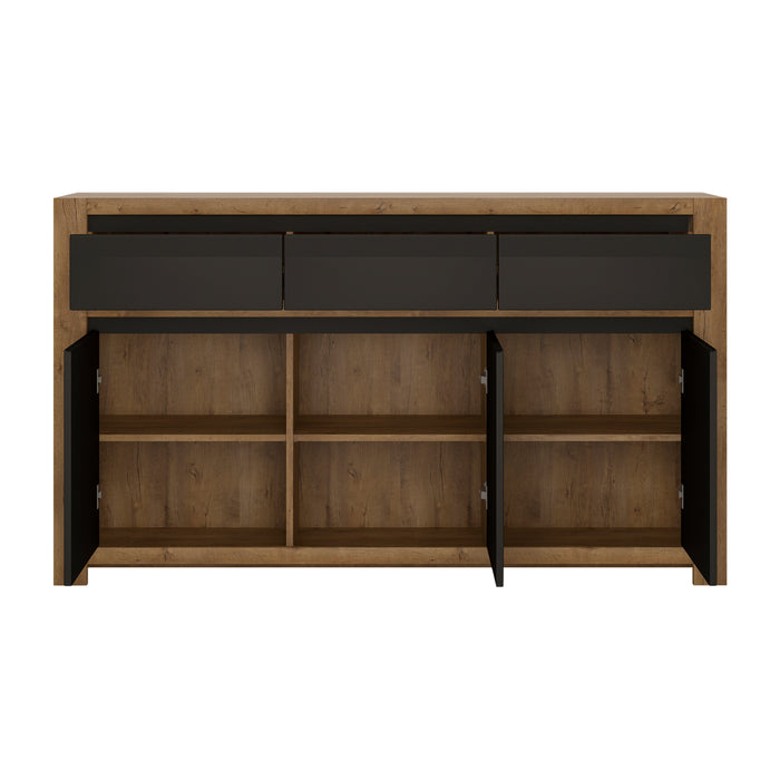 Havana 3 door 3 drawer sideboard Oak