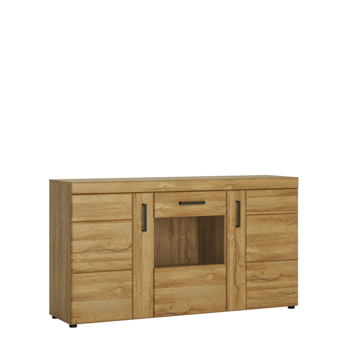 Cortina 3 door glazed sideboard Oak