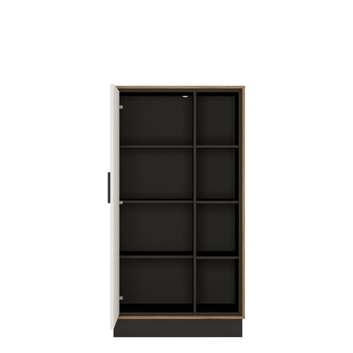 Brolo Wide 1 door bookcase Walnut