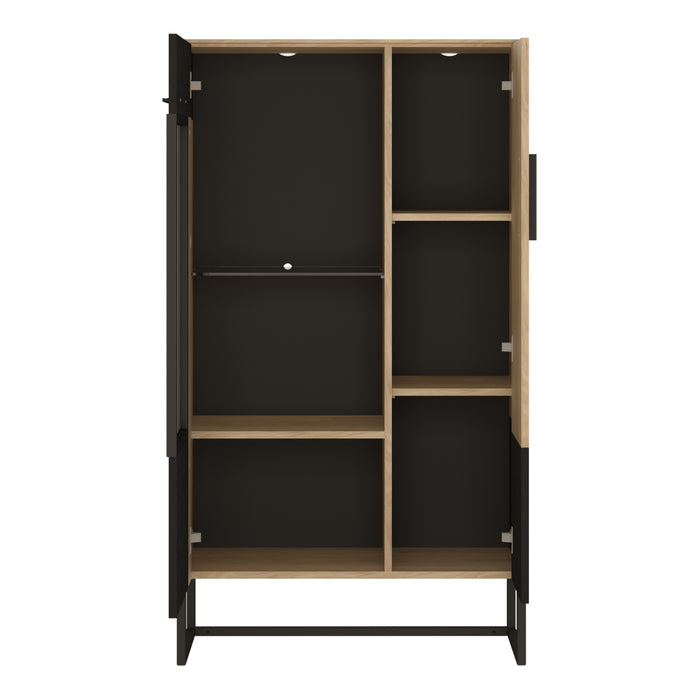 Cordoba Display Cabinet - Low & Wide Dark Accents