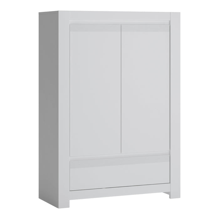 Novi 2 Door 1 Drawer Cabinet White
