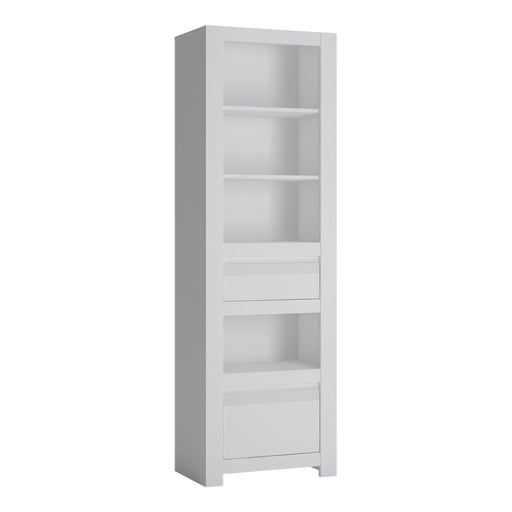 Novi 2 Drawer Bookcase White