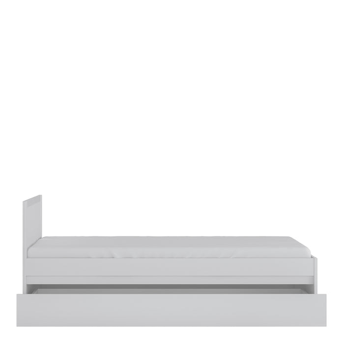 Novi 90cm Bed with underbed drawer White
