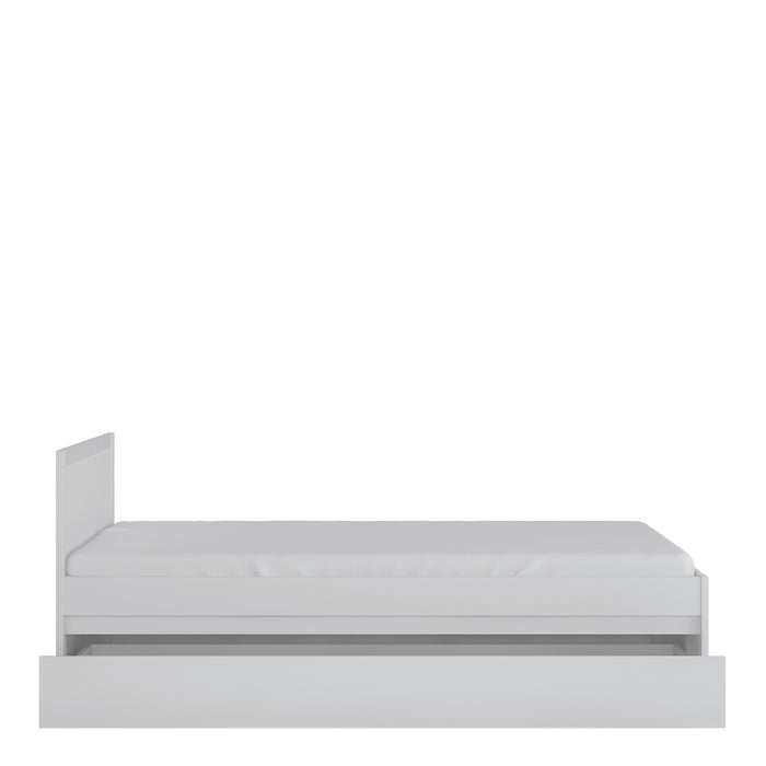 Novi 120cm Bed with underbed drawer White