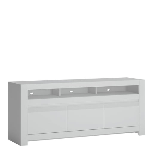 Novi 3 Door TV Cabinet White