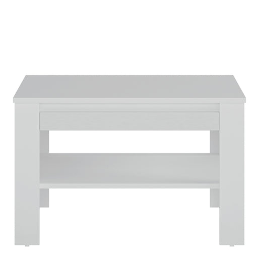 Novi Coffee Table with shelf White