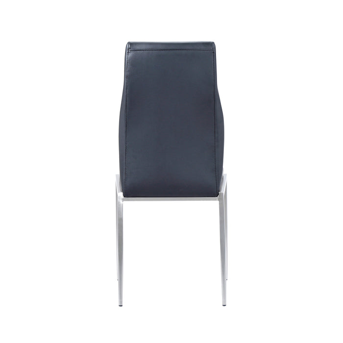 Milan High Back Chair Black Leather