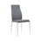 Milan High Back Chair Grey Leather