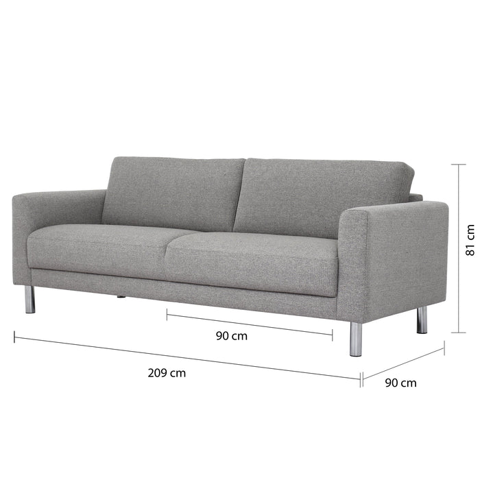 Cleveland 3 Seater Sofa Light Grey