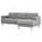 Cleveland Chaiselongue Sofa (RH) Light Grey