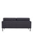Larvik 2.5 Seater Sofa -  Antracit, Black Legs