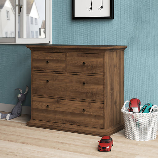 Paris Chest of 4 Drawers in Walnut