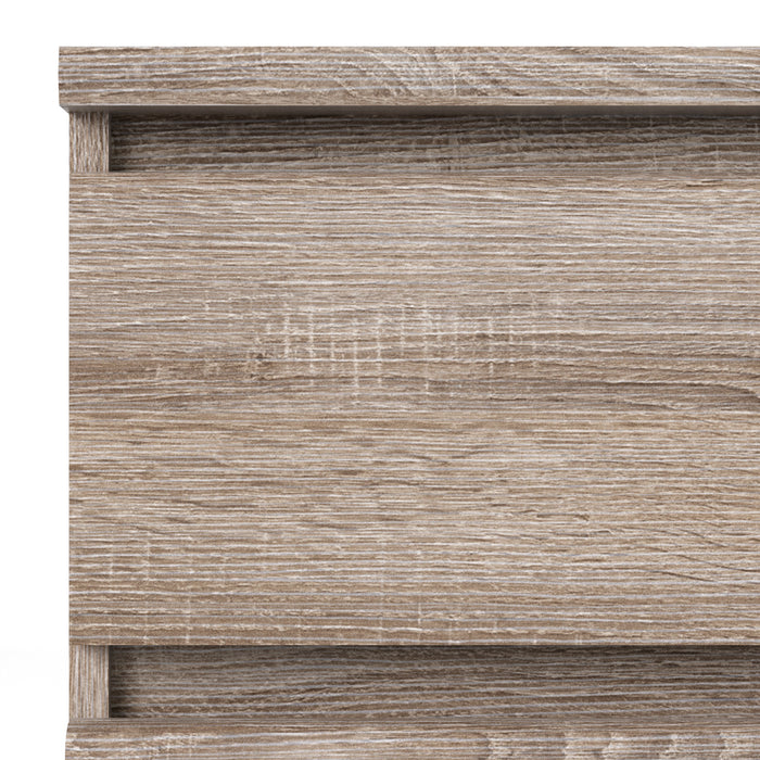 Naia Narrow Chest of 5 Drawers in Truffle Oak