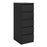 Naia Narrow Chest of 5 Drawers in Black Matt