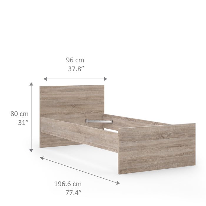 Naia Naia Single Bed 3ft (90 x 190) in Truffle Oak