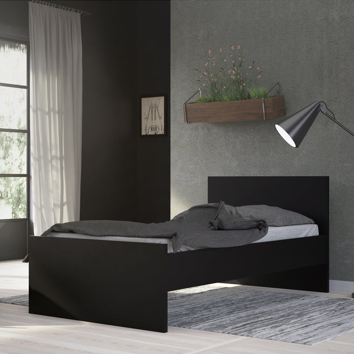 Naia Naia Single Bed 3ft (90 x 190) in Black Matt