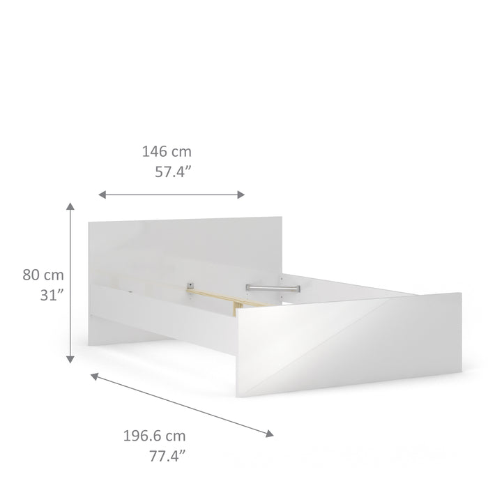 Naia Naia Double Bed 4ft6 (140 x 190) in White High Gloss