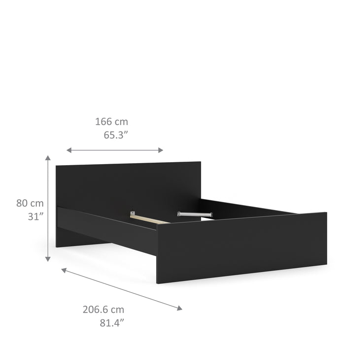 Naia Naia Euro King Bed (160 x 200) in Black Matt